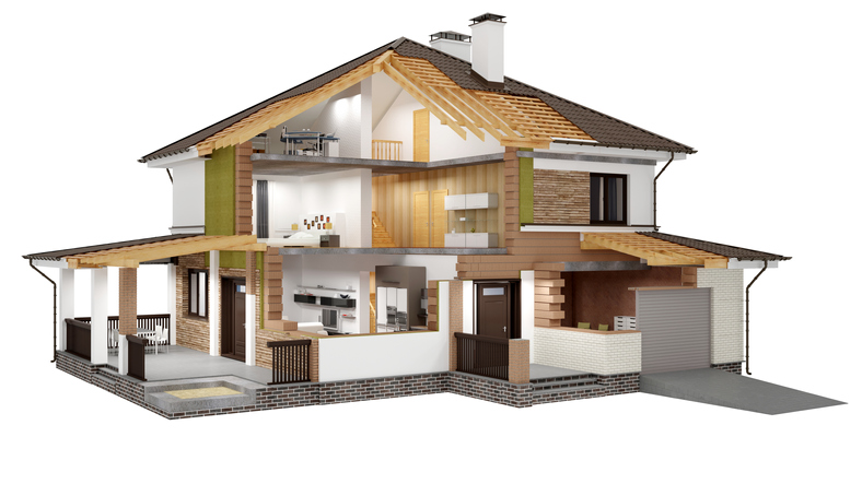 3D rendering of a modern house