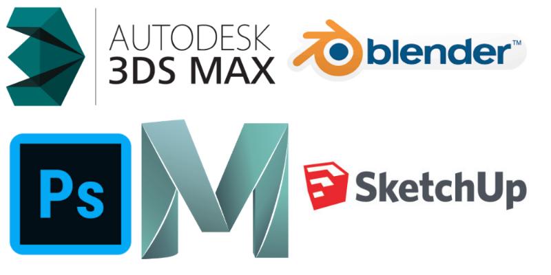 3d modeling program logos