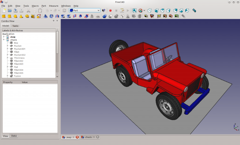 freecad jeep sample
