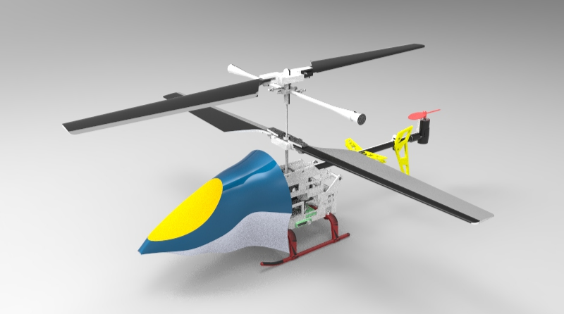 3d model helicopter solidworks