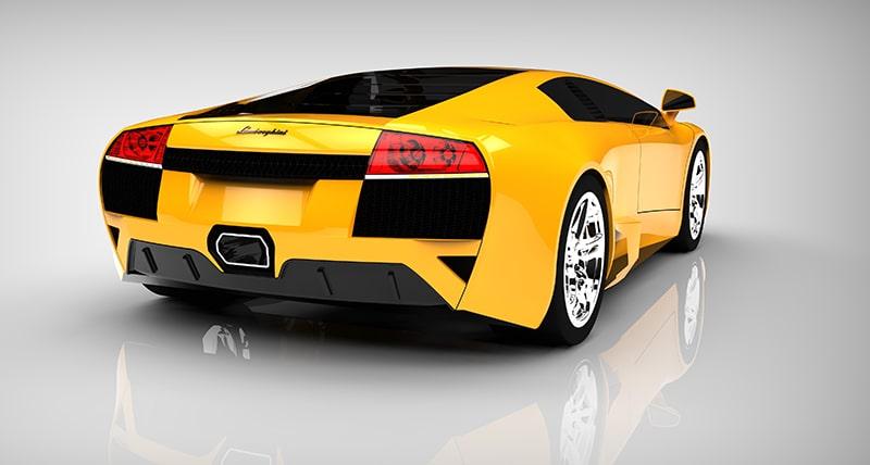 3D rendering luxury car