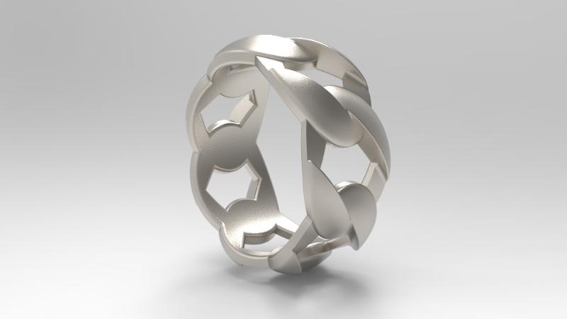 cuben style ring