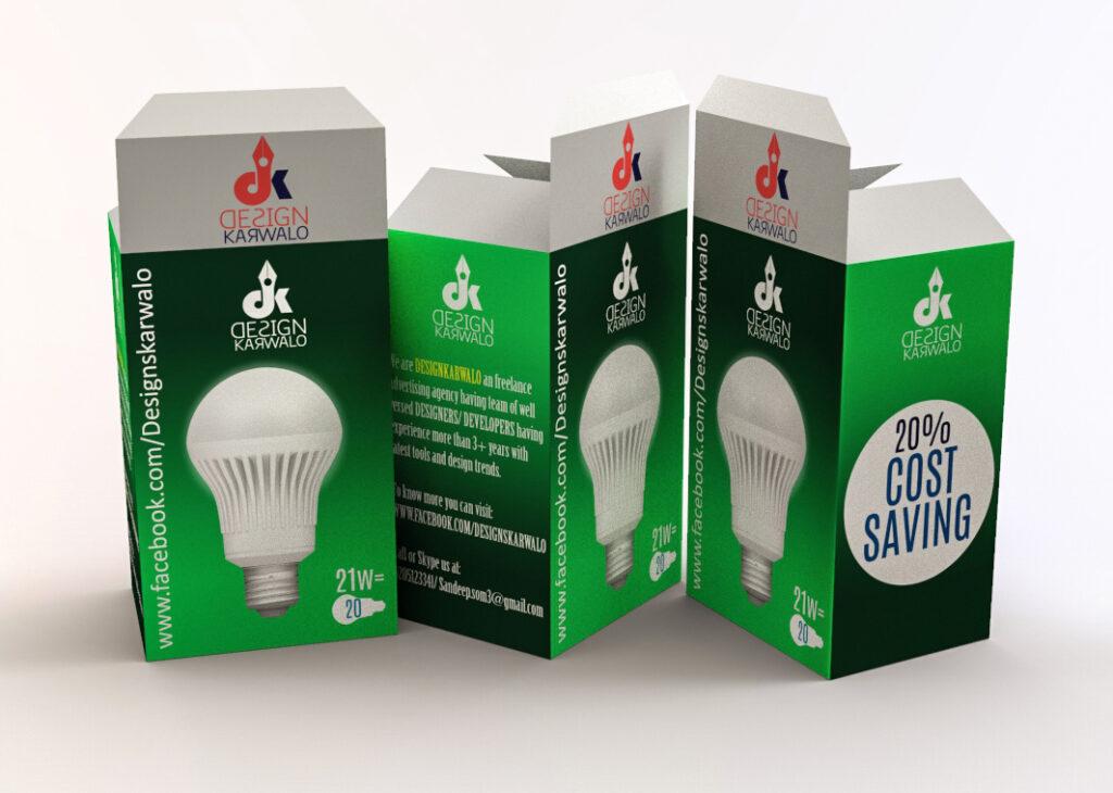 product packaging design lightbulb