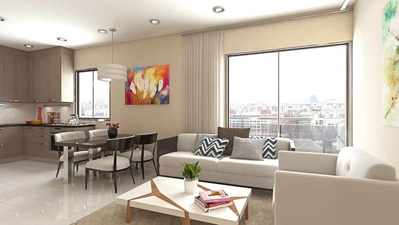 3D Architectural Rendering Apartment