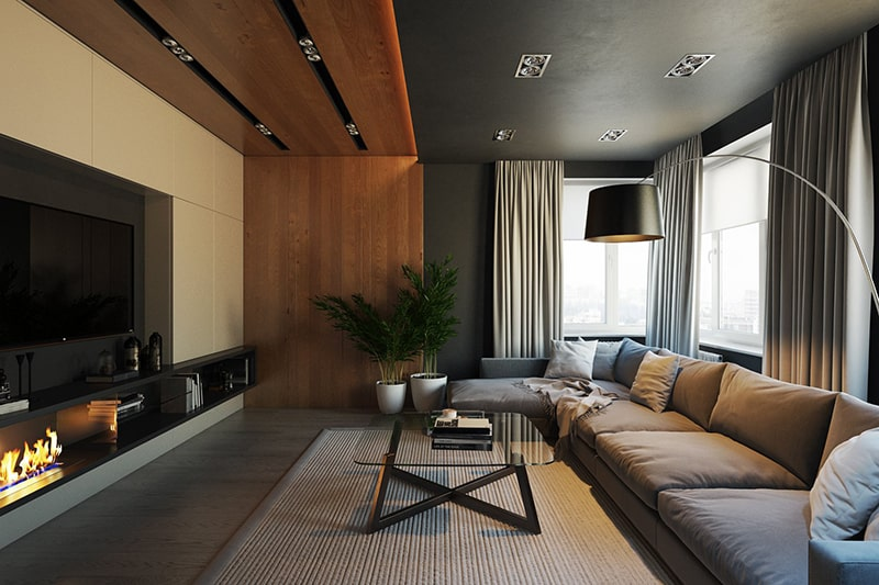 3D Architectural Rendering Living Room