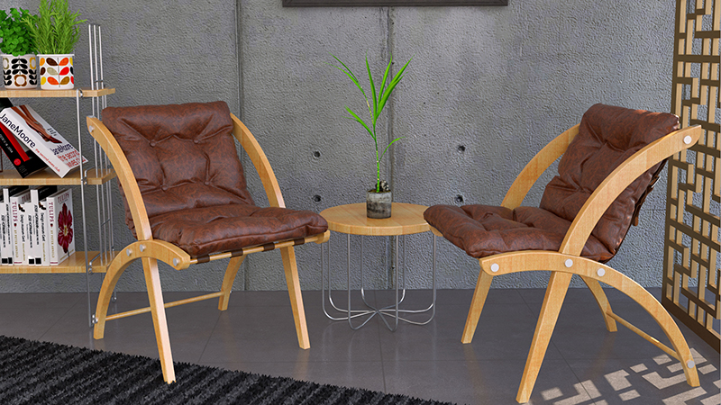 3D Furniture Rendering Chairs