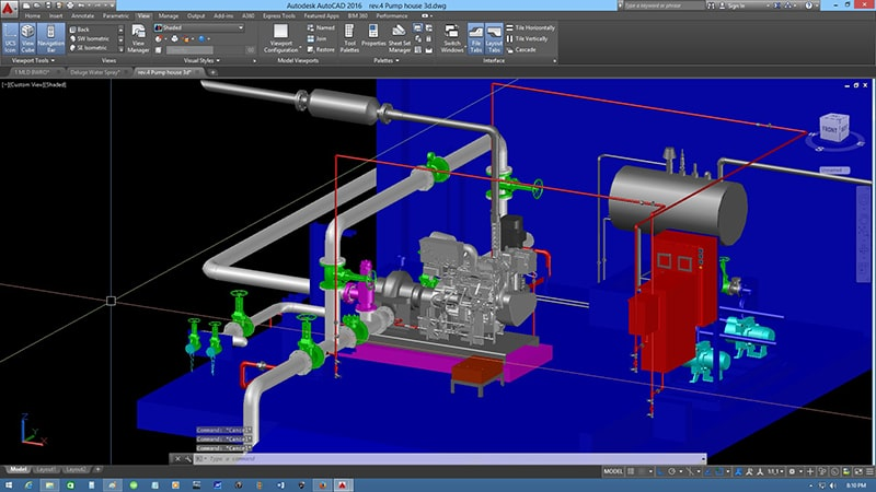 CAD Drafting and Design Pump House