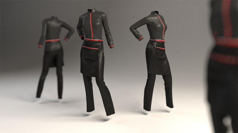 3D Rendering Dress