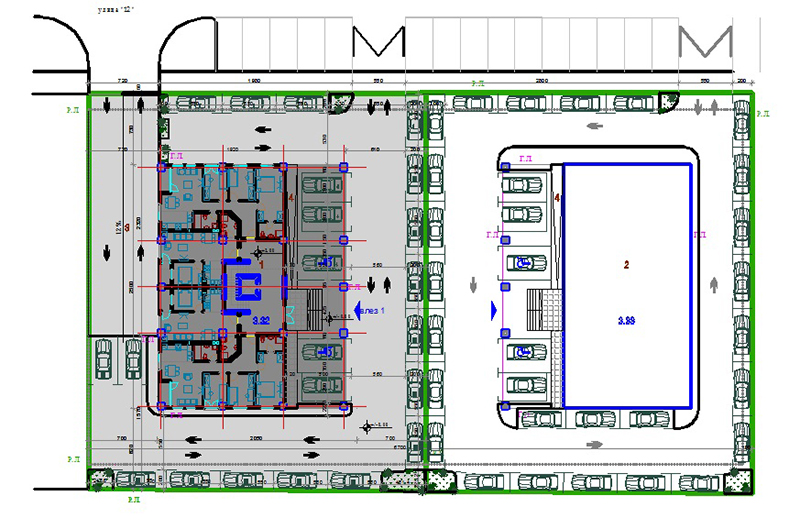 AutoCAD Drawing Residential Complex