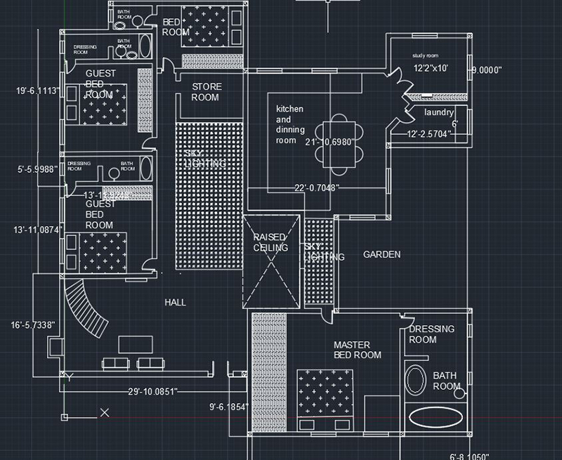 AutoCAD House Plan
