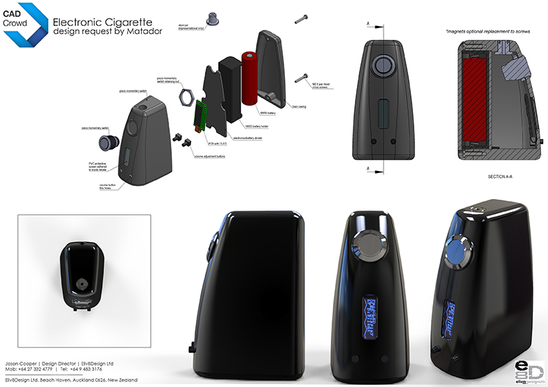 Electronic Cigarette Product Design