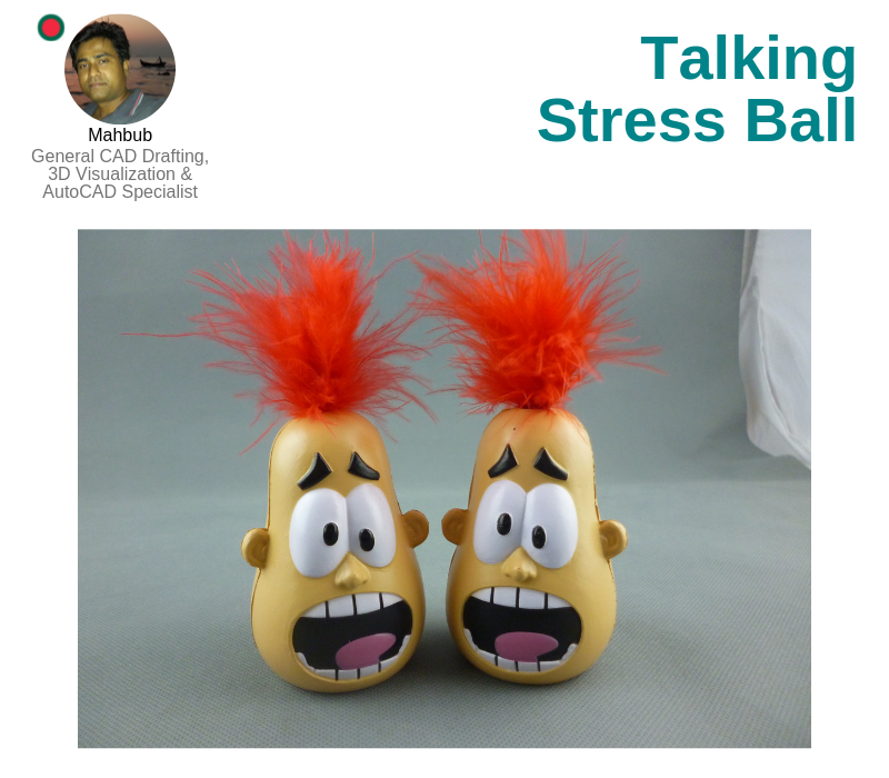 A photo of The Talking Stress Ball.