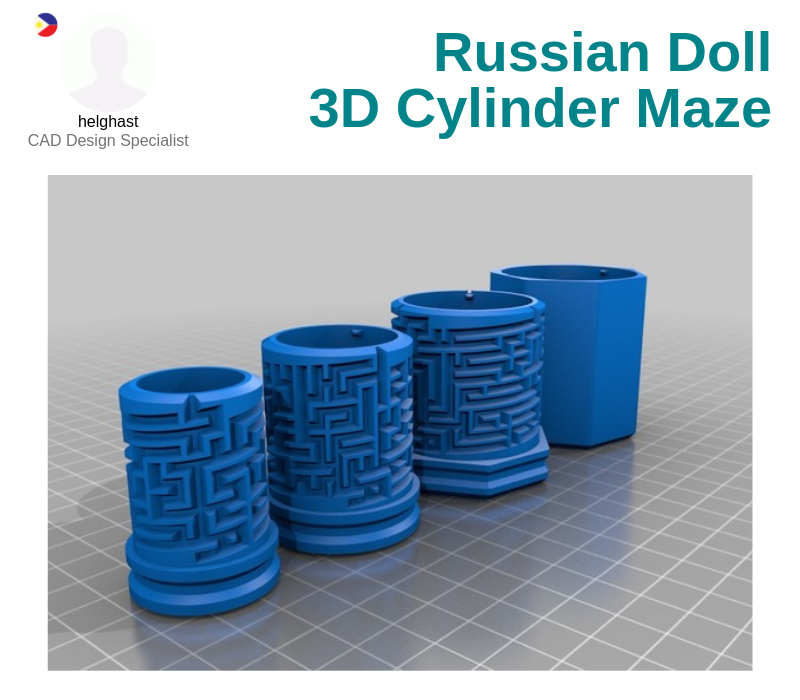 A photo of the Russian Doll 3D Cylinder Maze.
