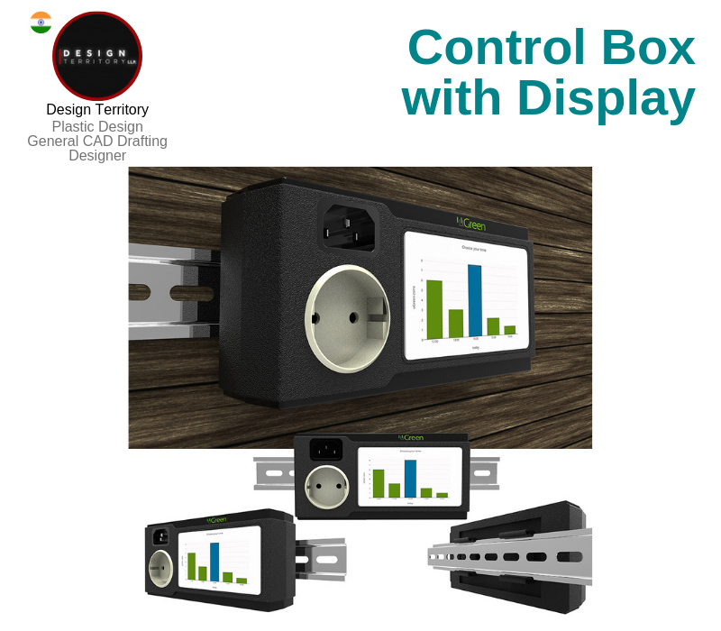 A photo of the Control Box with Display created on SolidWorks.