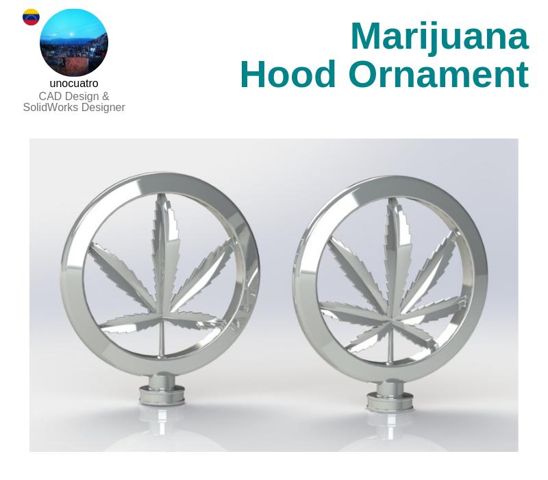 A photo of the Marijuana Hood Ornament.