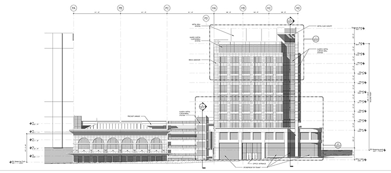 Architectural office building design