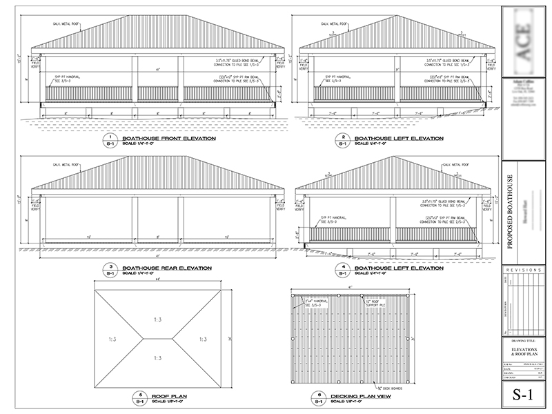 Boathouse design and drawings