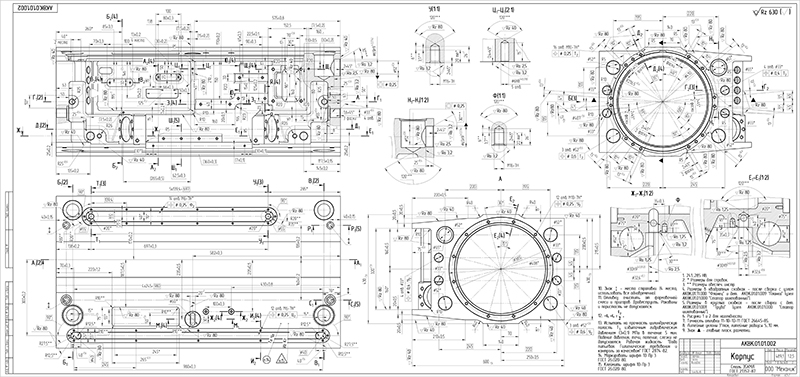 Explosion-proof-electric-motor CAD drawing