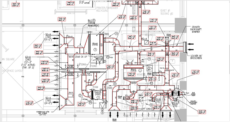 HVAC System CAD Drawing Services