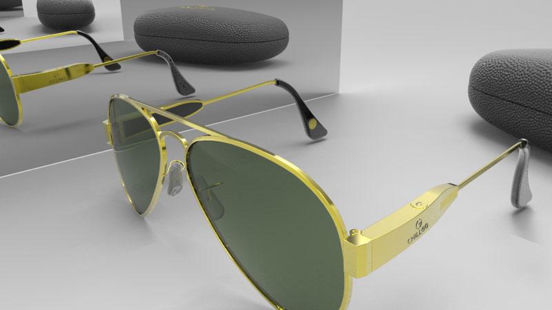 Sunglasses 3D Rendering