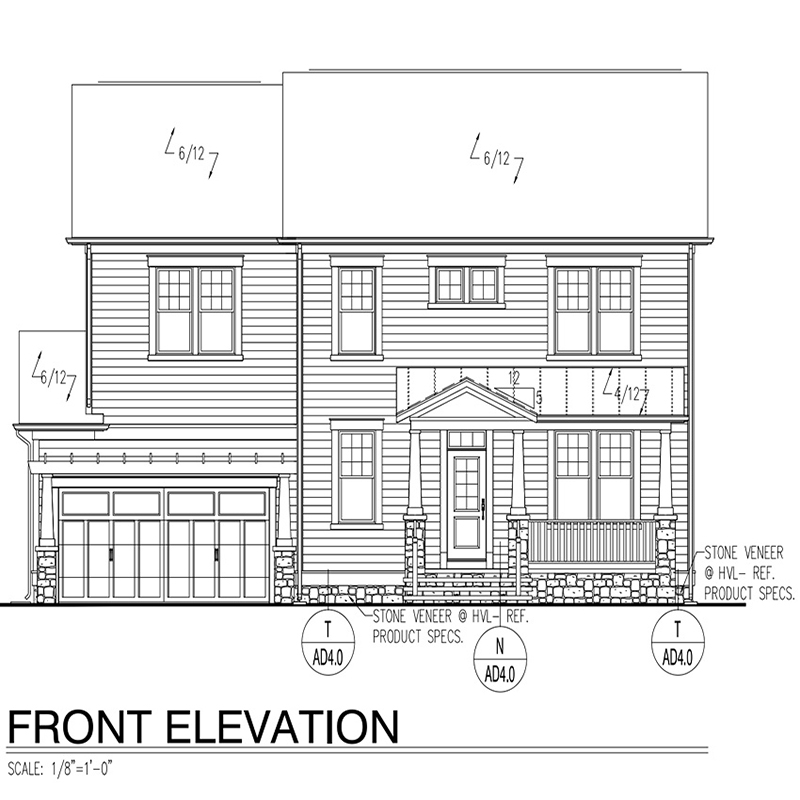 Two floor family house architectural drawings
