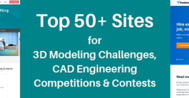 Top 50+ Sites for 3D Modeling Challenges, CAD Engineering Competitions & Contests
