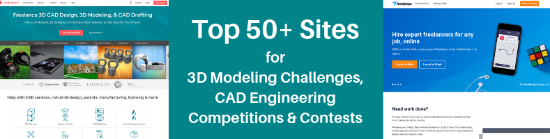 Top 50 Sites For 3d Modeling Challenges Cad Engineering Competitions Contests Cad Crowd