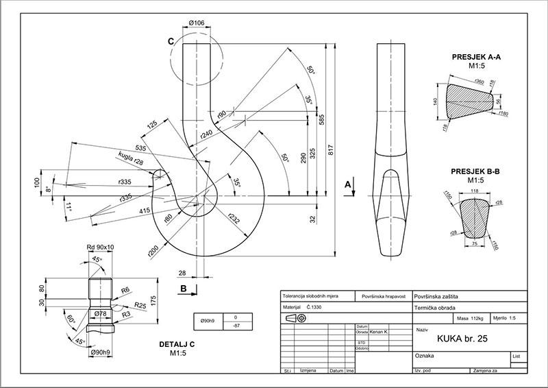 Crane-hook-CAD-drawing-by-Kenan-Kalamujic