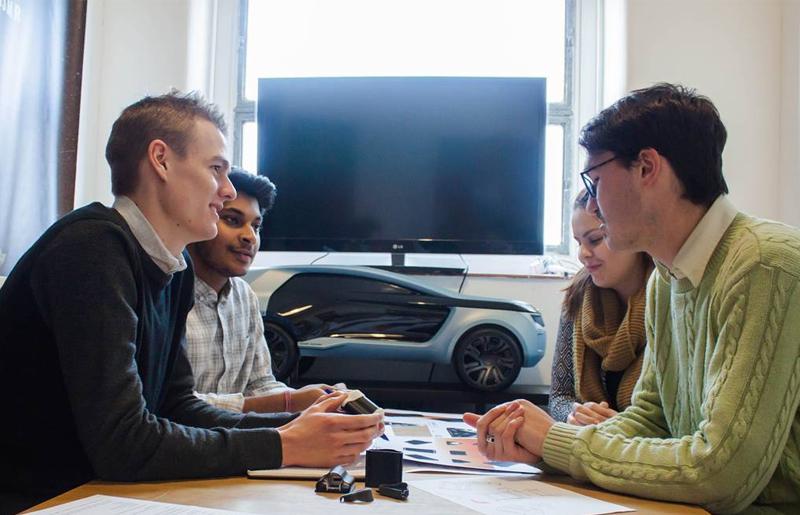 Industrial design team meeting