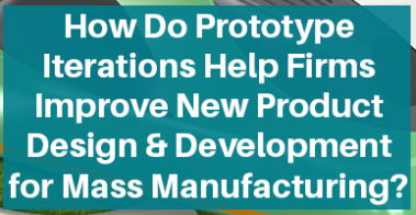 Iterative design in product development and prototyping