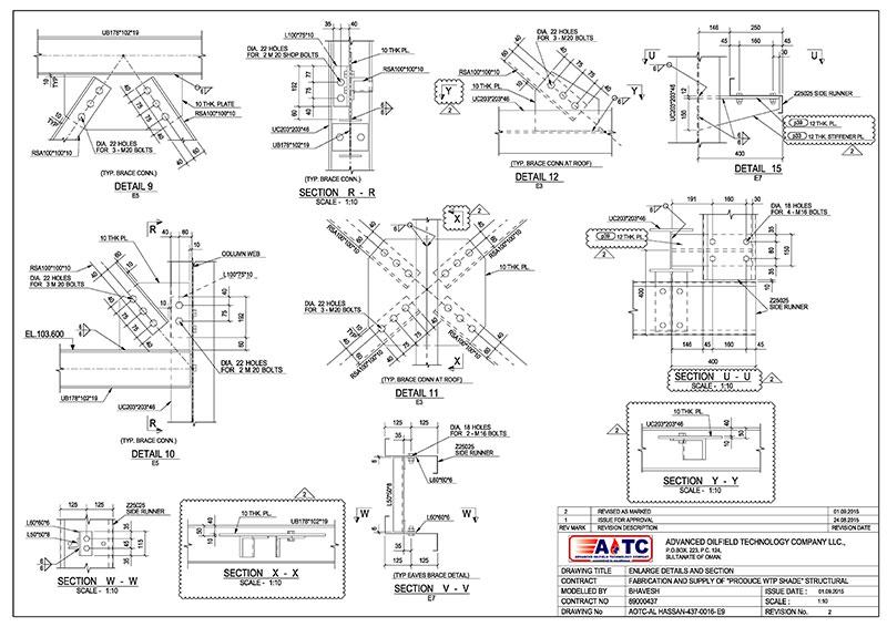 Steel-CAD-fabrication-drawings