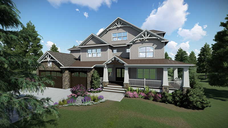 3D-modeling-residential-house-with-lawn