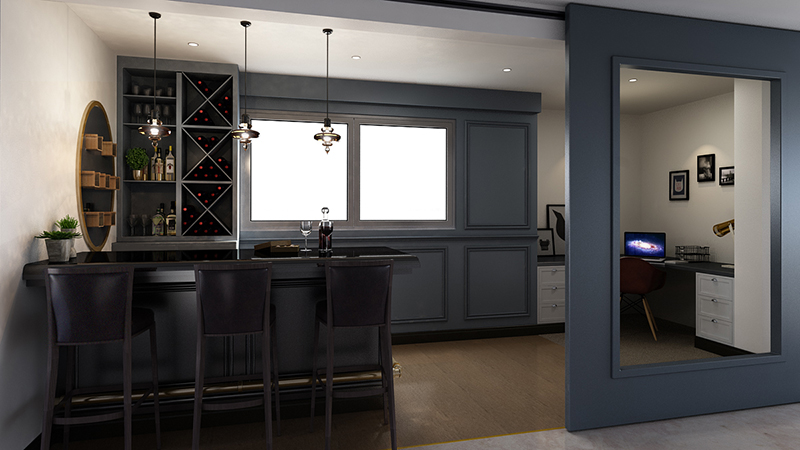 3D-rendering-Kitchen-desgn