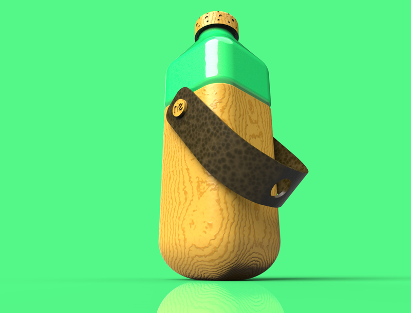 3D-rendering-water-bottle-design