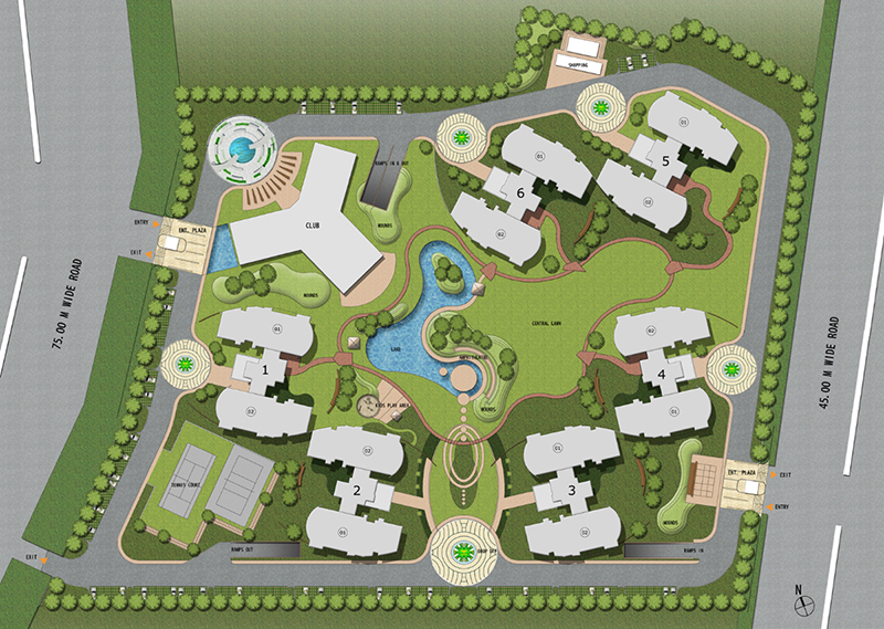 Architectural-site-plan-rendering