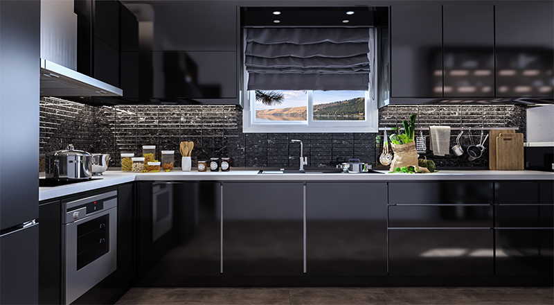 Dark-kitchen-design-3D-rendering