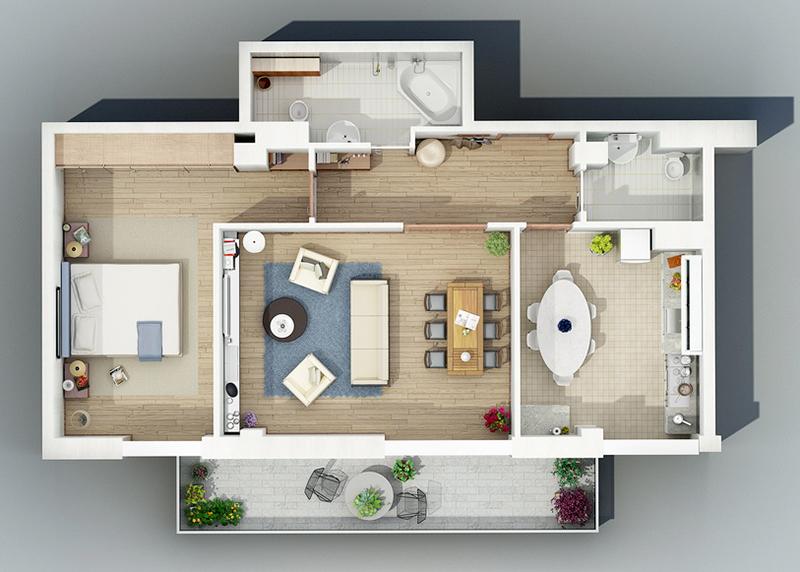 Furniture-3D-floor-plan