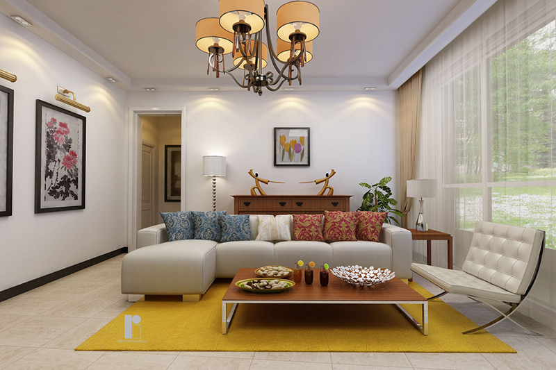 Living-room-furniture-and-decor-rendering-3D