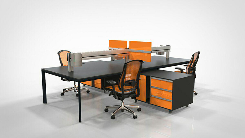 Workstation-office-furniture-3D-rendering