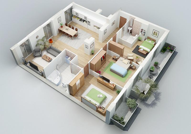 3D-architectural-floor-plan-rendering