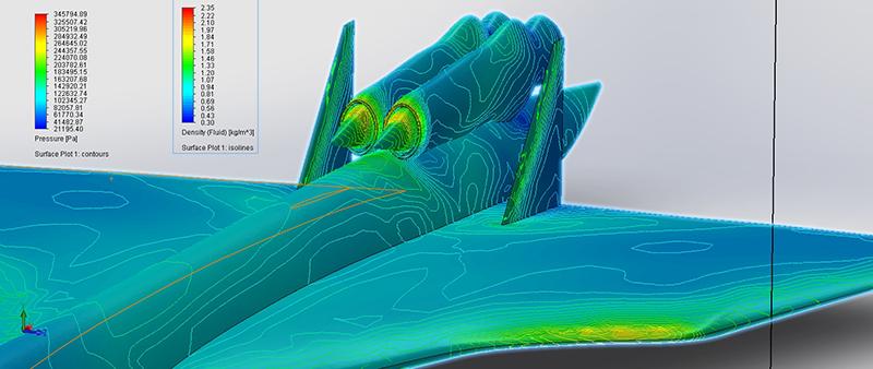 3D-rendering-supersonic-airflow-testing