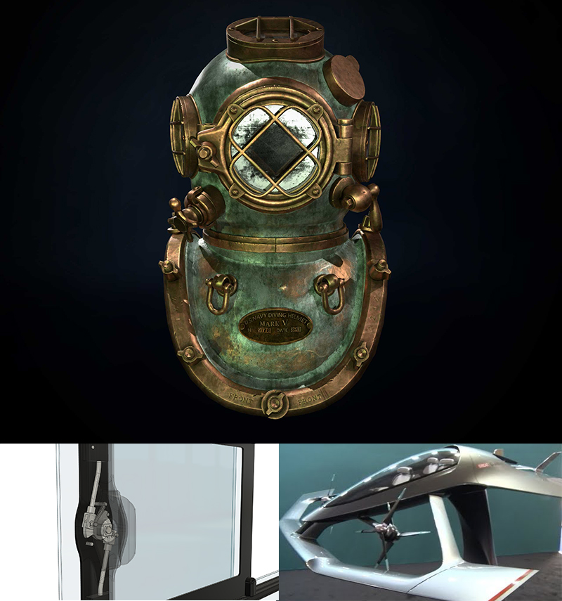 Diving-helment-and-yacht-parts