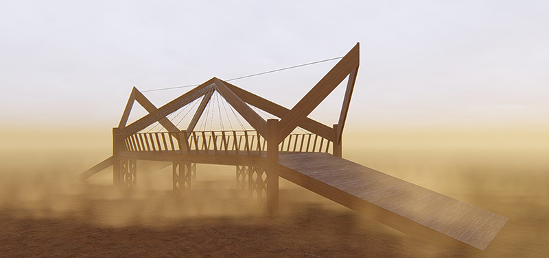 Burning-Man-stage-3D-rendering