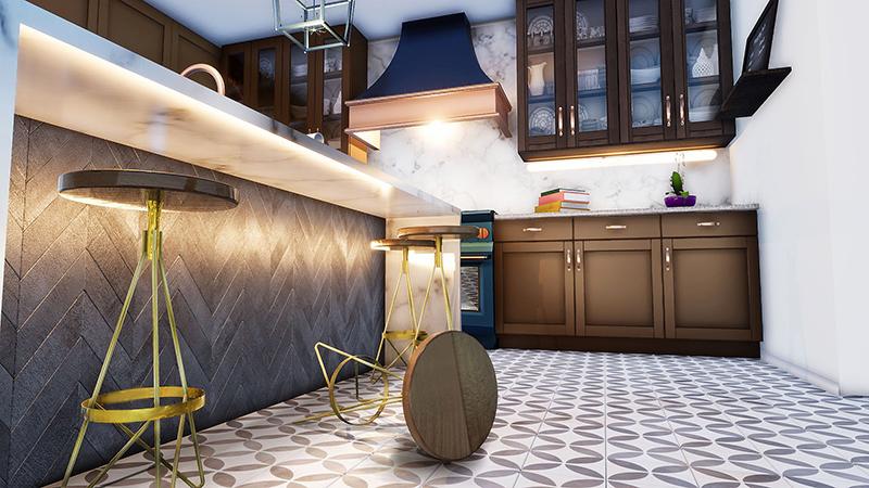 Kitchen-stools-3D-rendering
