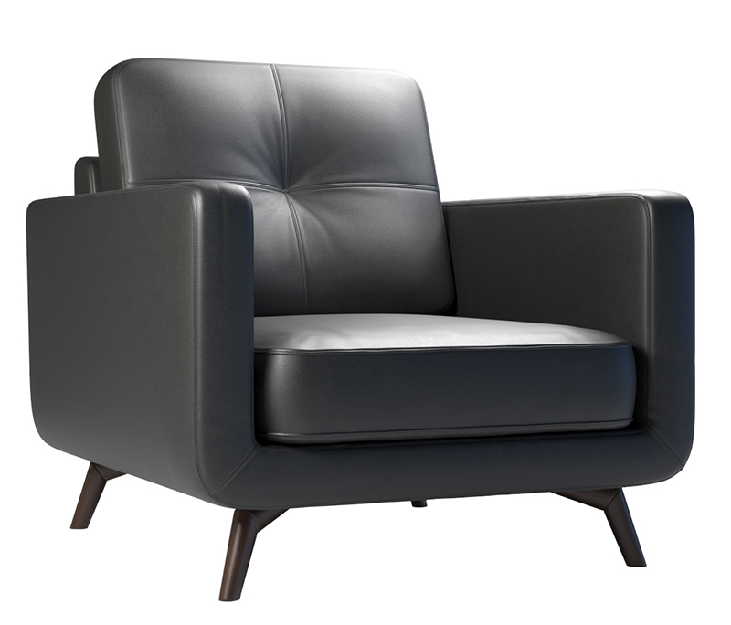 Leather-armchair-design-3D-rendering