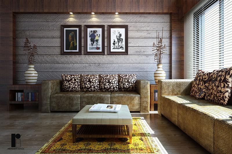 Living-room-furniture-3D-rendering