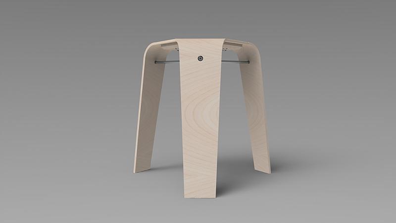 Stool-plywood-3D-rendering