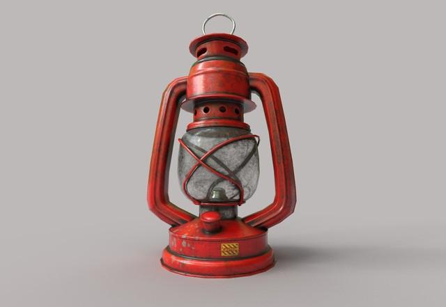 low-poly-kerosene-lantern