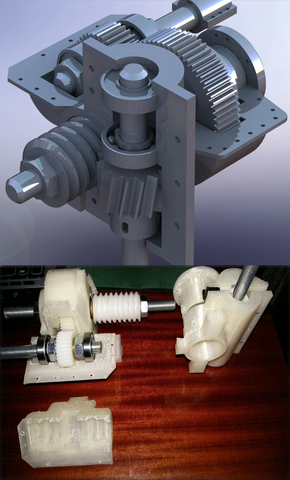 3Dmodelling and Prototyping of gear box with help 3Dprinting