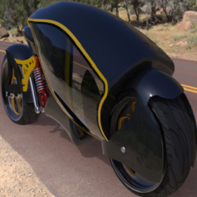 Futuristic motorcycle concept